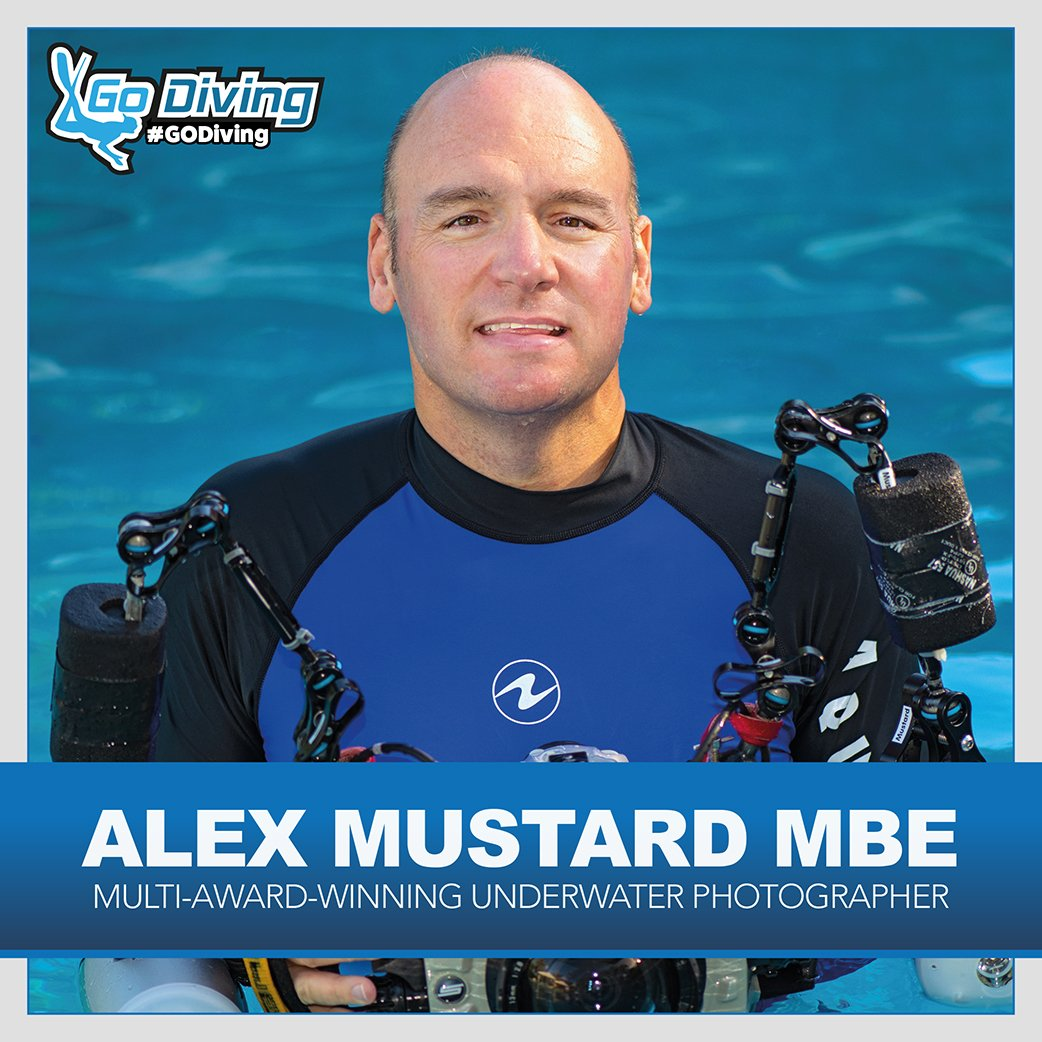 Photography Guru Dr Alex Mustard MBE speaking at GO Diving 1