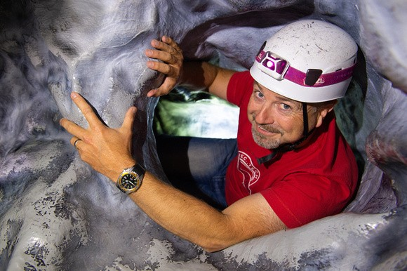 interactive caving experience