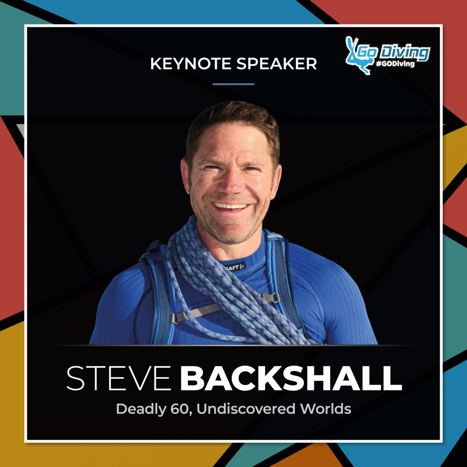 GO Diving Show Main Stage Top 5 - Number 1 - Steve Backshall 1