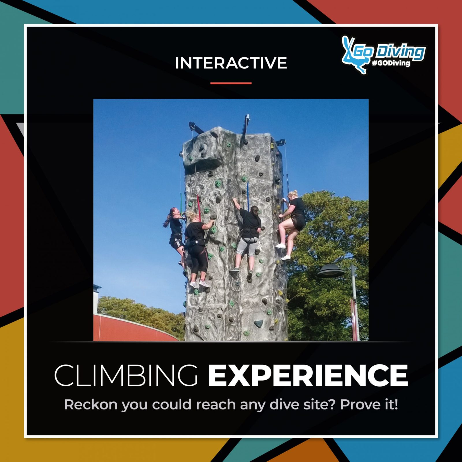 Head for the skies at GO Diving Show - can you conquer The Wall? 1