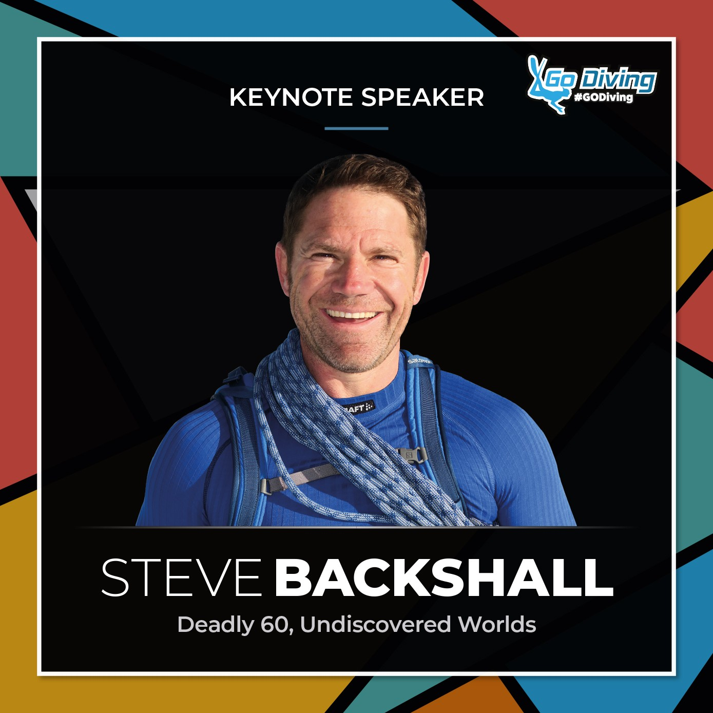 See Steve Backshall live on stage at the GO Diving Show 1
