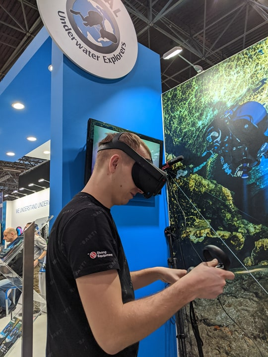 GO Diving Show interactivity - Virtual Reality wreck diving with GUE 2